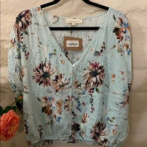 NWT Short Sleeve Boho Blouse